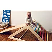 Pikler triangle, Step Triangle, Climbing ladder for toddler, Climbing triangle for toddlers , The ramp you can add in options.