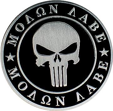 Spartan Helmet right Molan Labe Molon Come and Take It 2nd Amendment sticker