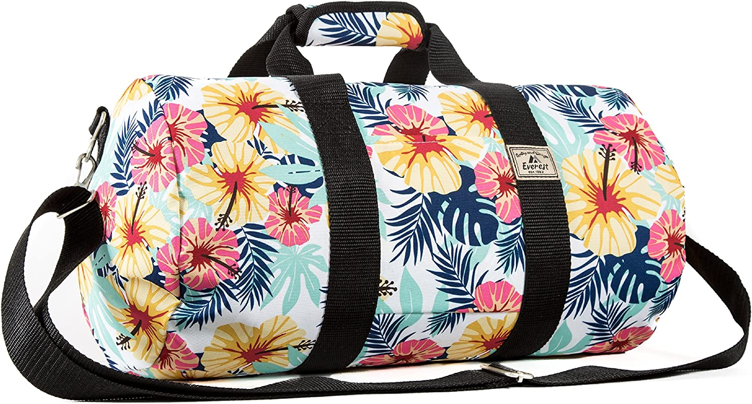 Everest Pattern 16-inch Round Duffel Bag, Tropical, One Size