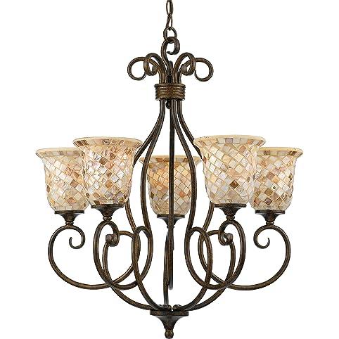 quoizel my5005ml monterey mosaic 5light chandelier bronze