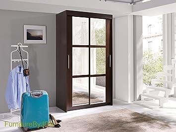 Neuf, Moderne, Garde Robe 2 Portes Coulissantes Avec Miroir U0026quot;KAROu0026quot;