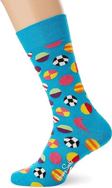Happy Socks Clashing Dot Sock Calcetines, Azul (Blue 670), 7/10 ...