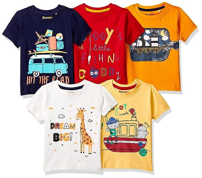 Baby-Boy's Regular fit T-Shirt (Pack of 5)