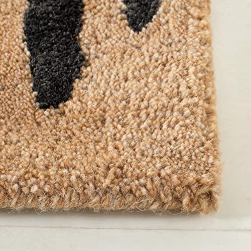 Safavieh Soho Collection SOH721A Handmade Beige and Brown Premium Wool Area Rug 2' x 3'