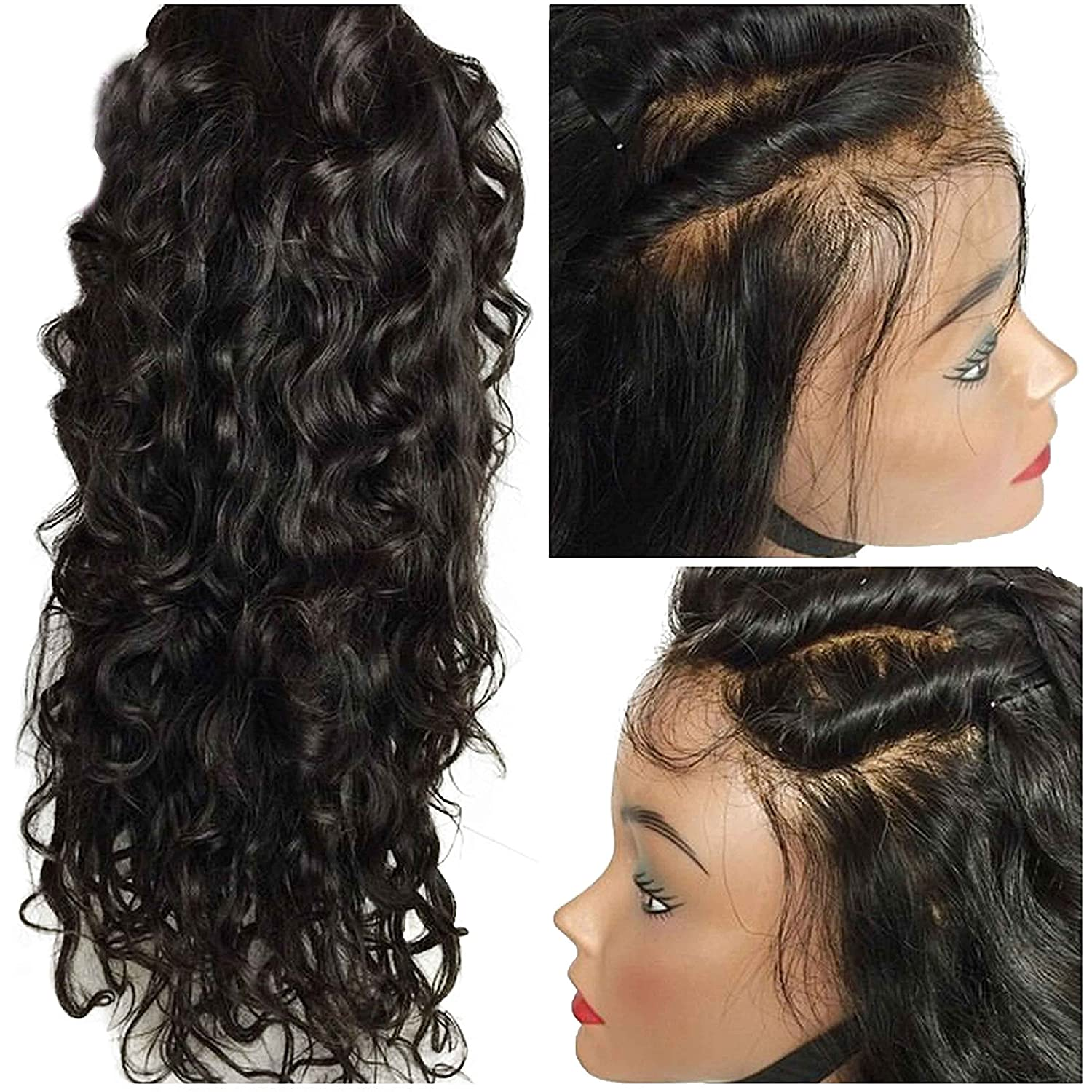 Amazon.com: Elva Hair Glueless Full Lace Wigs & Lace Front Wigs Human Hair for Black Women Virgin Brazilian Body Wave Lace Front Wigs with Baby Hair ...