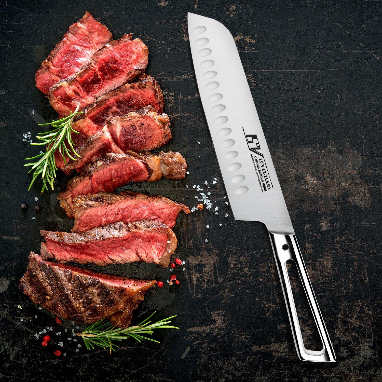 Amazon.com: TUO Cuchillo de cocina de acero alemán de alto ...