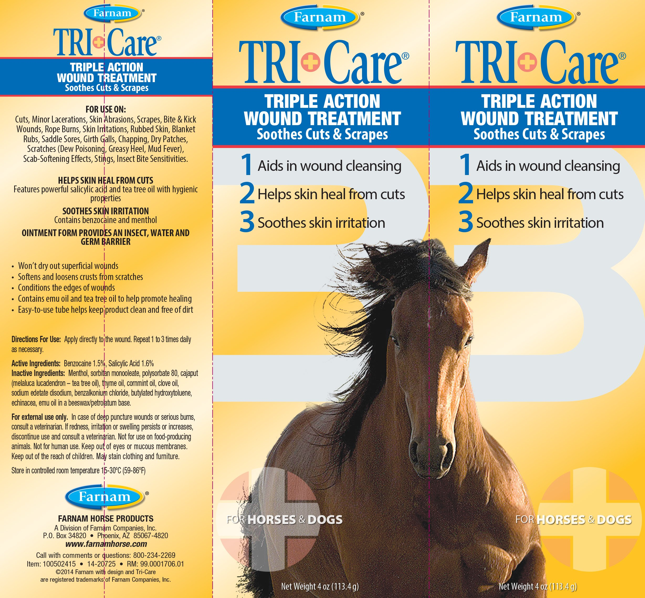 Farnam Tri-Care Triple Action Wound Treatment, 4 oz. by Farnam (Image #2)
