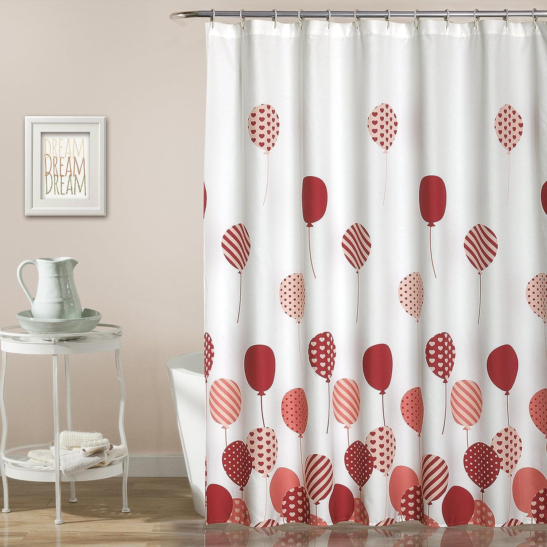 Lush Decor 16T000930 Shower Curtain 72' x 72' Pink Triangle Home Fashions