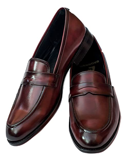 c27bb4cc8d3 Bronnko Cherry Penny Loafers  Shoes (11 UK Men)  Buy Online at Low ...