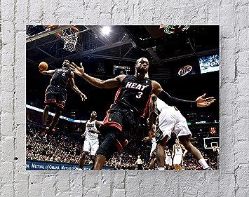 Lebron James Dwyane Wade NBA Poster