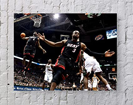 9baecac28a460 Lebron James Dwyane Wade NBA Poster Standard Size | 18-Inches by 24-Inches  | Lebron James Dwyane Wade Alley-OOP Wall Poster Print