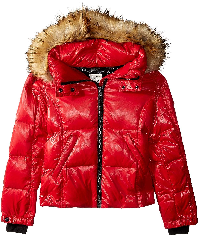 S13 Girls' Mogul Gloss Down Puffer with Faux Fur Hood