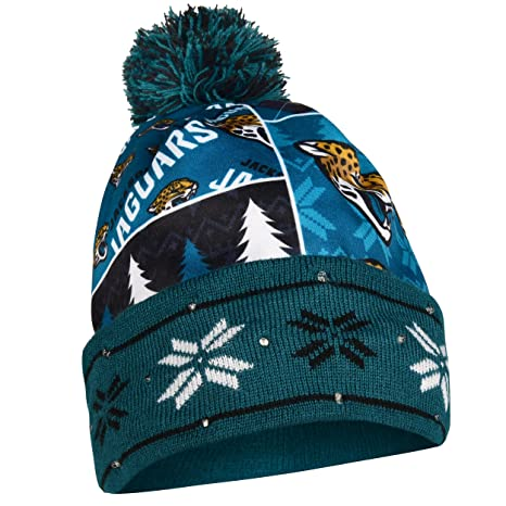 6330b65596d Image Unavailable. Image not available for. Color  Jacksonville Jaguars  Exclusive Busy Block Printed Light Up Beanie