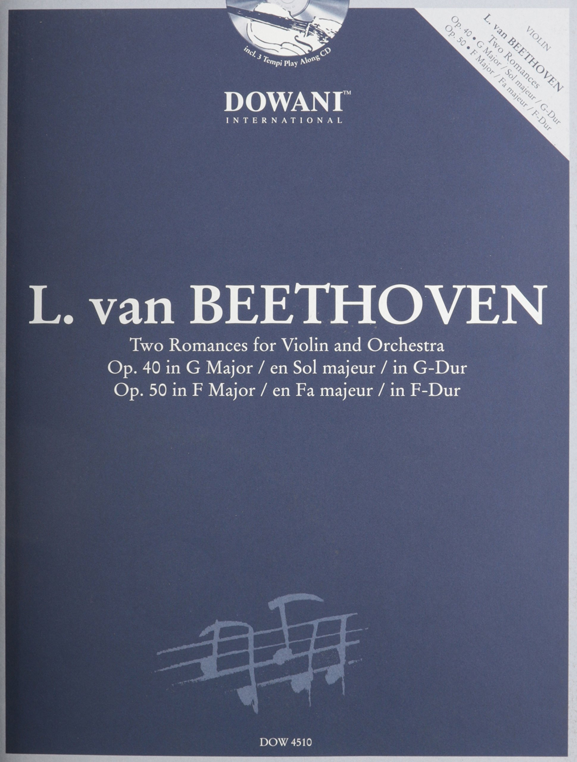 Download Beethoven: Two Romances for Violin and Orchestra: Op. 40 in G Major and Op. 50 in F Major PDF