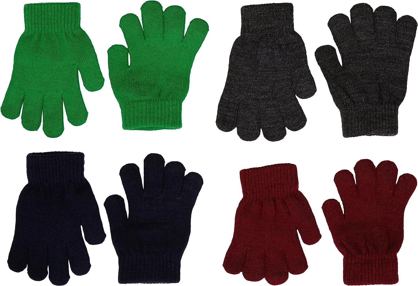 Primark - Guantes, 4 Pack, (Verde/Negro/Burdeos/Gris), 2-8 años: Amazon.es: Ropa y accesorios