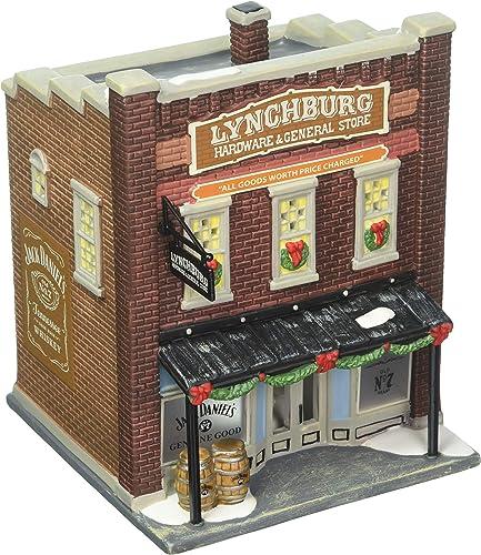 Department 56 Jack Daniels Village Lynchburg Hardware and General Store Lit Building