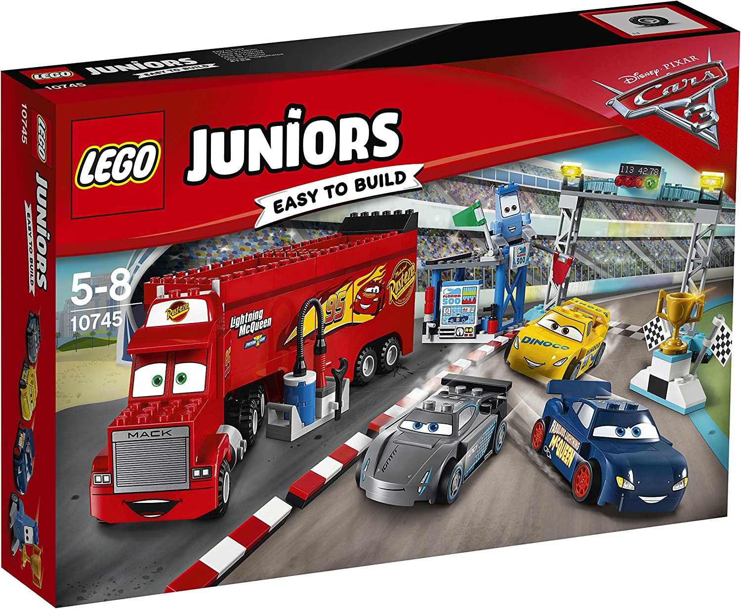 Amazon Com Lego Disney Cars 3 Florida 500 Final Race Toys Games