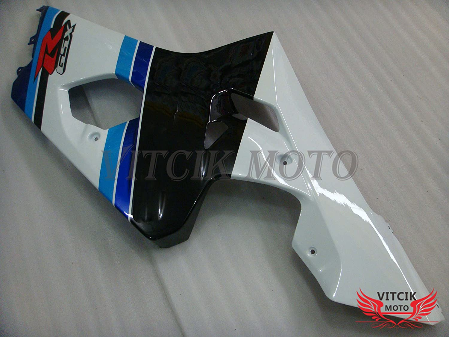 A041 VITCIK Fairing Kits Fit for Suzuki GSX-R750 GSX-R600 K4 2004 2005 GSXR 600 750 K4 04 05 Plastic ABS Injection Mold Complete Motorcycle Body Aftermarket Bodywork Frame Blue /& White
