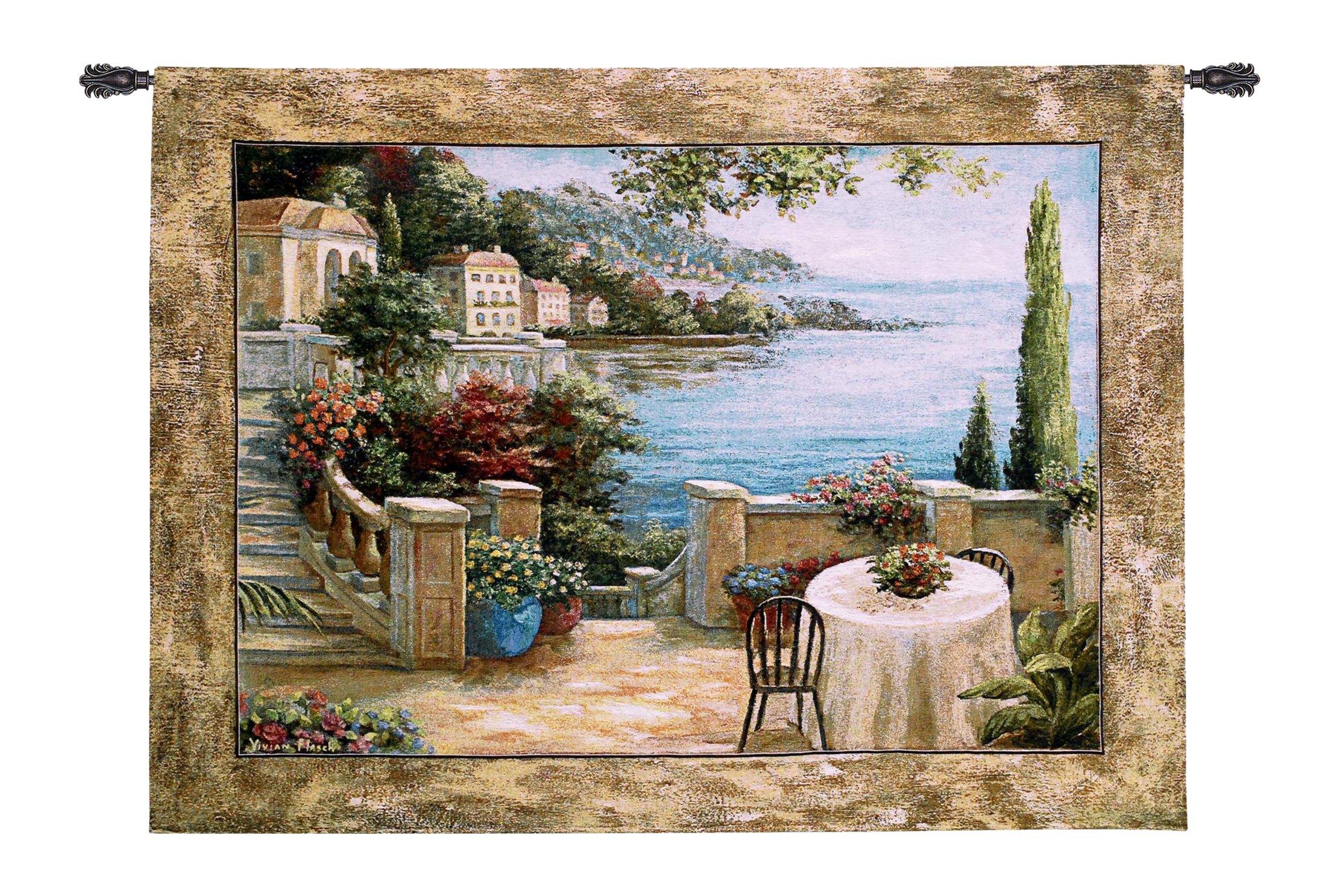 Fine Art Tapestries ''Mediterranean Terrace II'' Wall Tapestry
