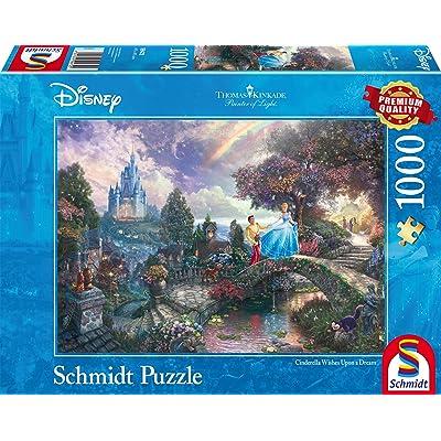 Schmidt Spiele Thomas Kinkade: Disney - Cinderella Jigsaw Puzzle (1000Pc): Toys & Games