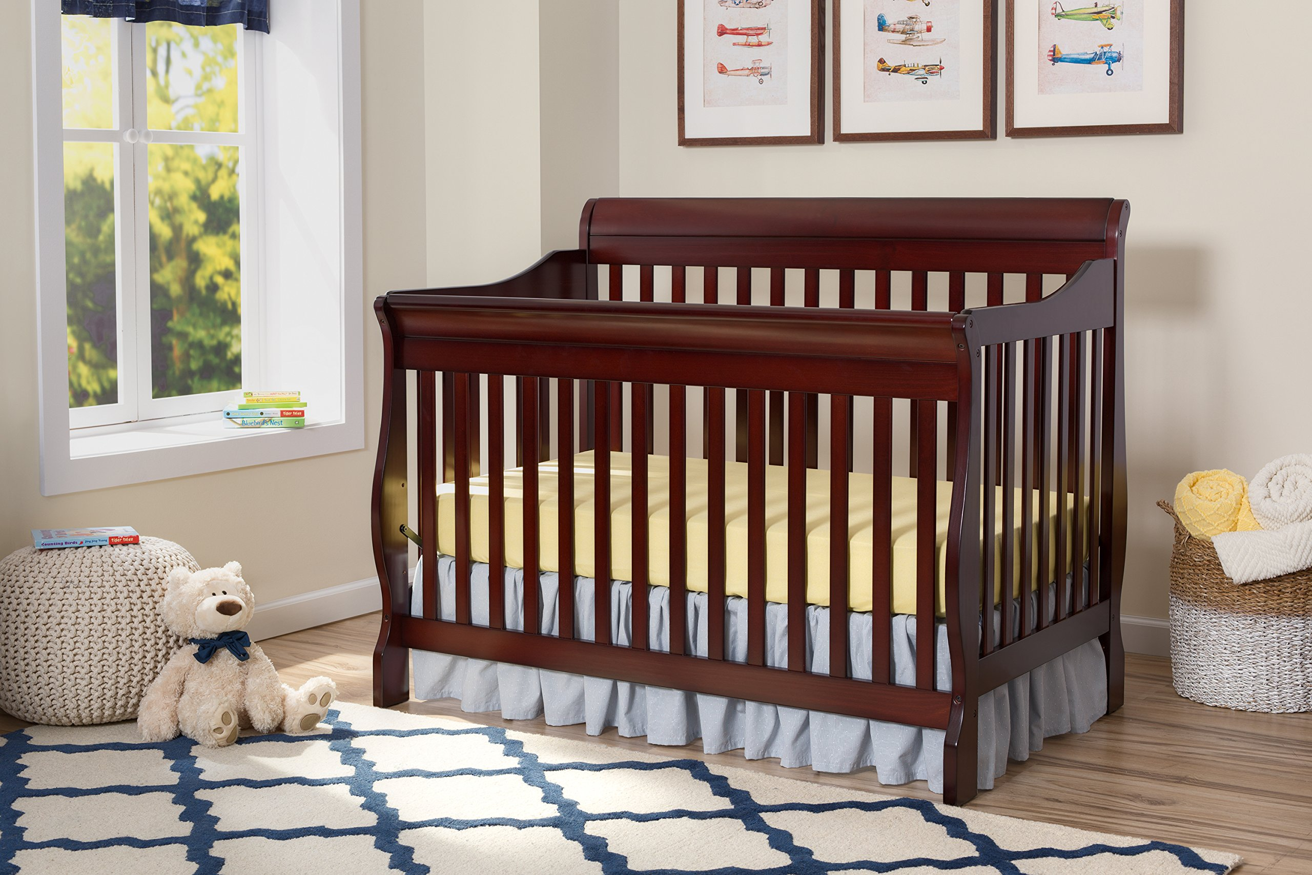 Delta Children Canton 4-in-1 Convertible Crib, Espresso Cherry by Delta Children (Image #3)