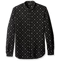 Just Cavalli Mens S01DL0133 N38665 Night Woven Top Button-Down Shirt