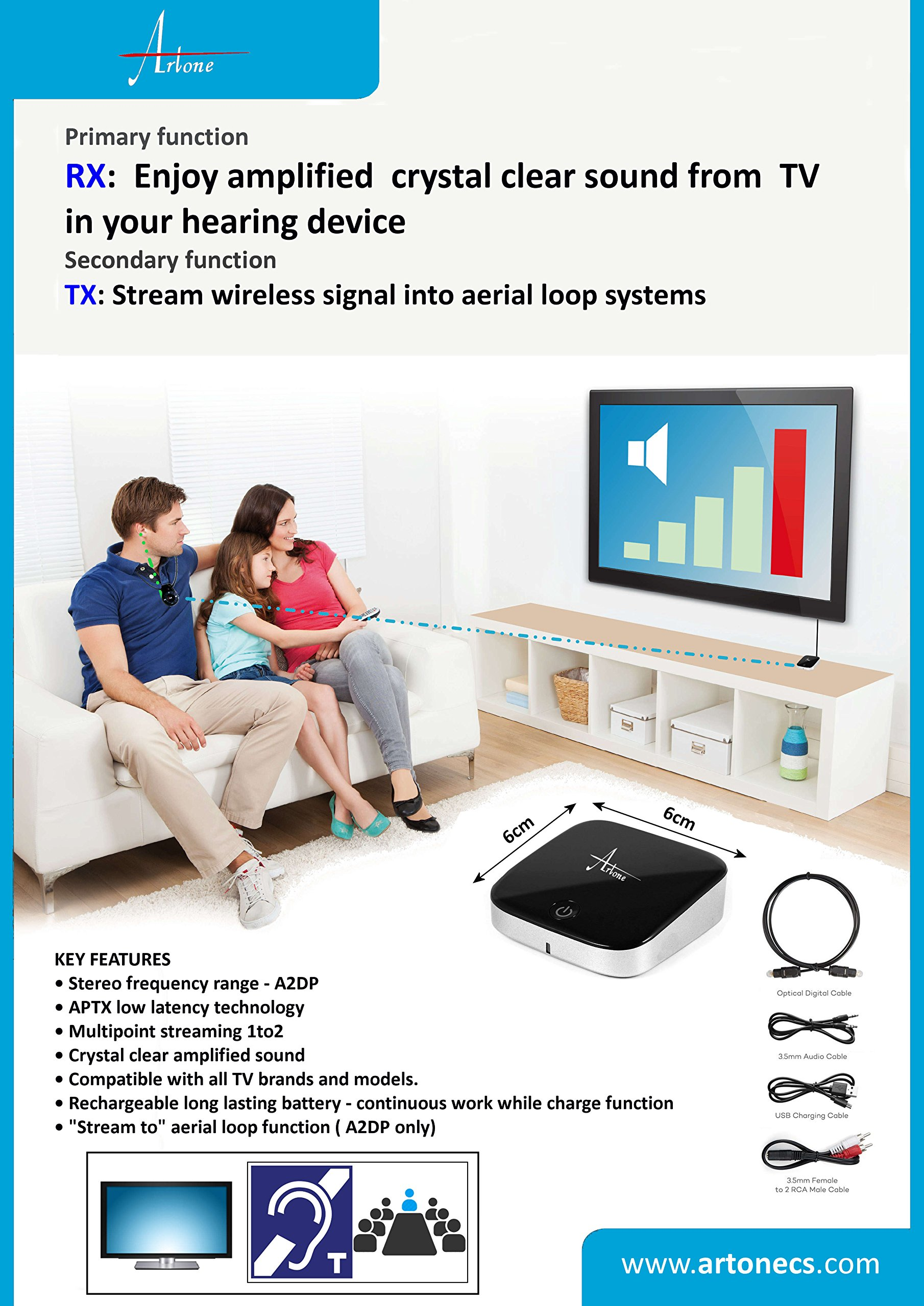 TVB (Stream signal from TV to Hearing aid) by Artone