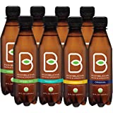 B-tea Kombucha Raw Organic Tea, Only 2g of Sugar, Probiotics and Prebiotic, Promotes Healthy Weight Loss, Kosher, 8 oz., 8 Count