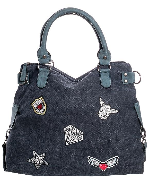 Gadzo Tasche canvas Handtasche Felltasche Damen Tasche handtasche stern Schultertasche Shopper Henkeltasche