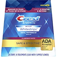 Crest 3D White Luxe Whitestrip Teeth Whitening Kit, Glamorous White, 14 Treatments( Each with 1 Upper/ 1 Lower), 28…