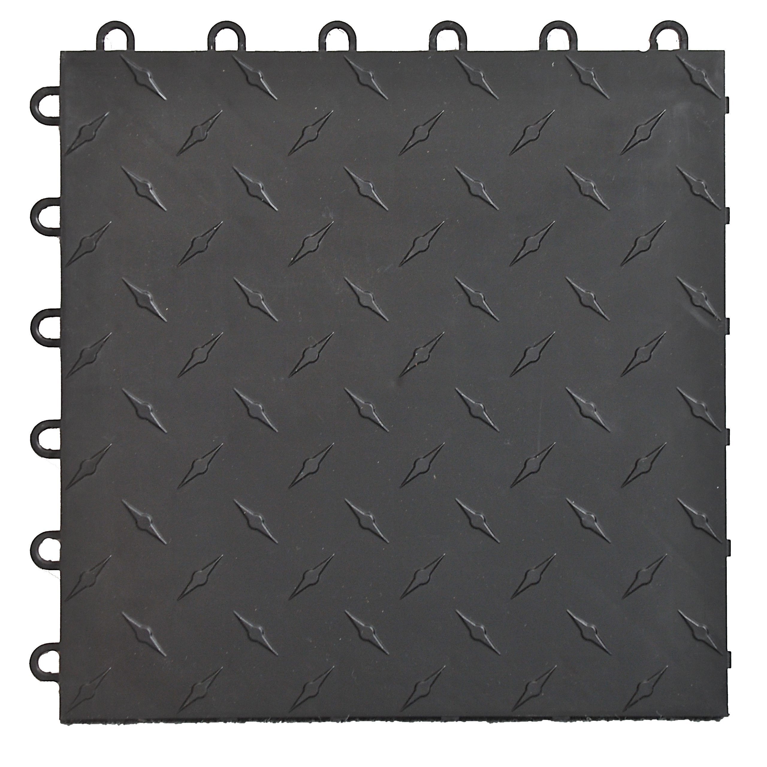 Speedway 789453B-50 Diamond Garage Floor 6 LOCK Diamond Tile 50 Pack, Black (Renewed)