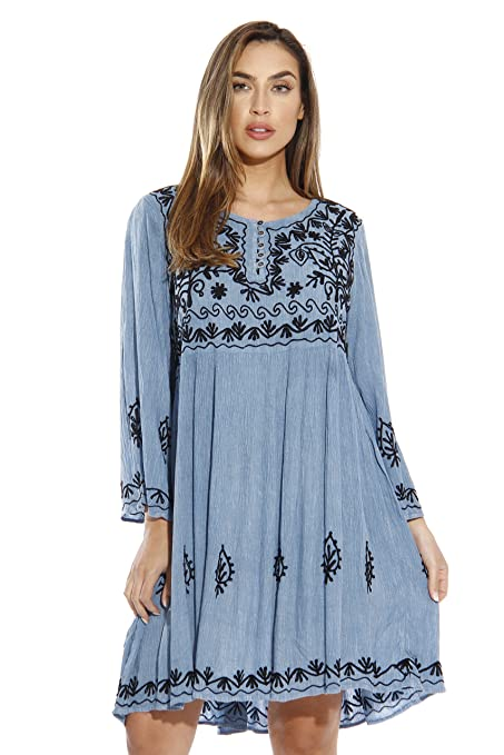21643-LTDENIM-2X Riviera Sun Dress / Dresses for Women