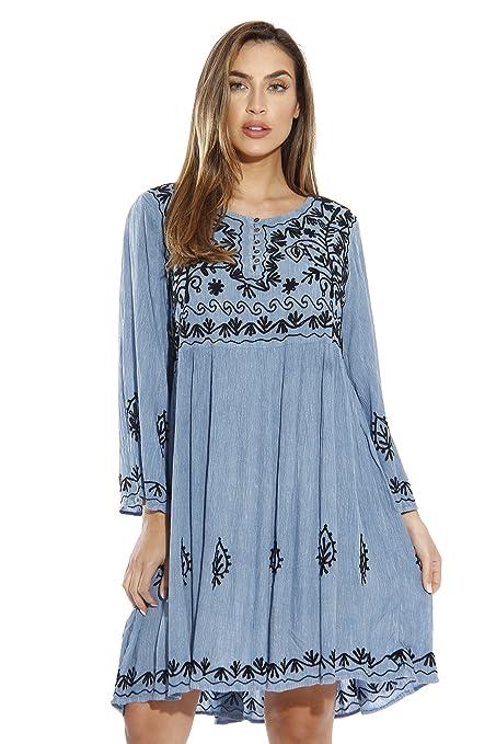21643-LTDENIM-2X Riviera Sun Dress / Dresses for Women