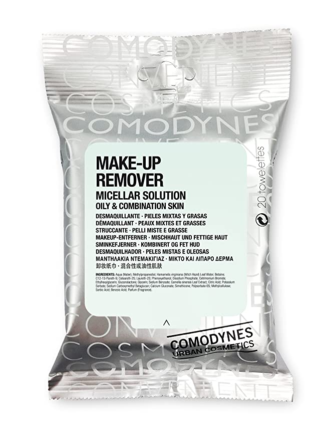Comodynes Make Up Remover Micellar Solution Sensitive Skin Limpiador - 20 Unidades: Amazon.es: Belleza
