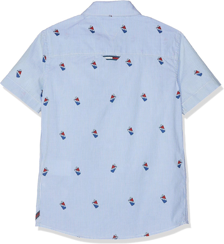 Tommy Hilfiger Boys Mini Pattern Oxford Shirt Blouse