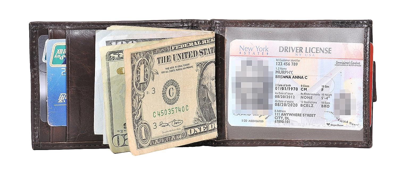 Woogwin Money Clip Wallet Mens RFID Blocking Slim Bifold Front Pocket Wallet