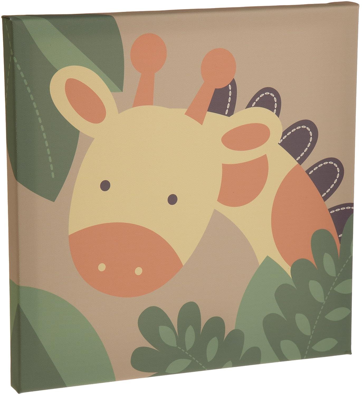 Amazon.com: Kids Line Jungle 123 Canvas Wall Art 3 Piece, Brown ...