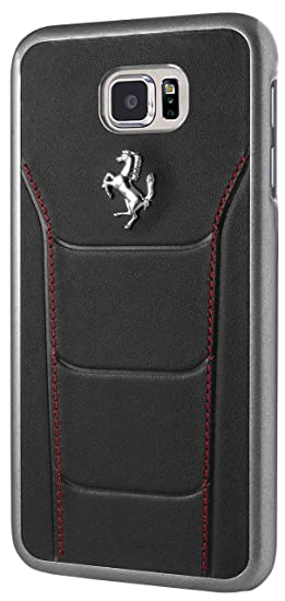 349f9c845 Image Unavailable. Image not available for. Colour: Ferrari 488 Hard Case  Leather for Galaxy S7 Edge ...