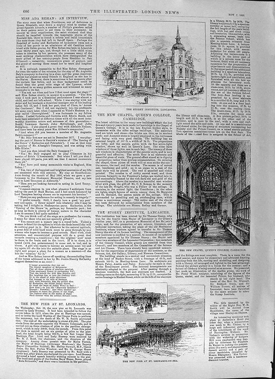 Embarcadero De Impresión Del La Capilla Antigua 1891 rxWdBoeQC