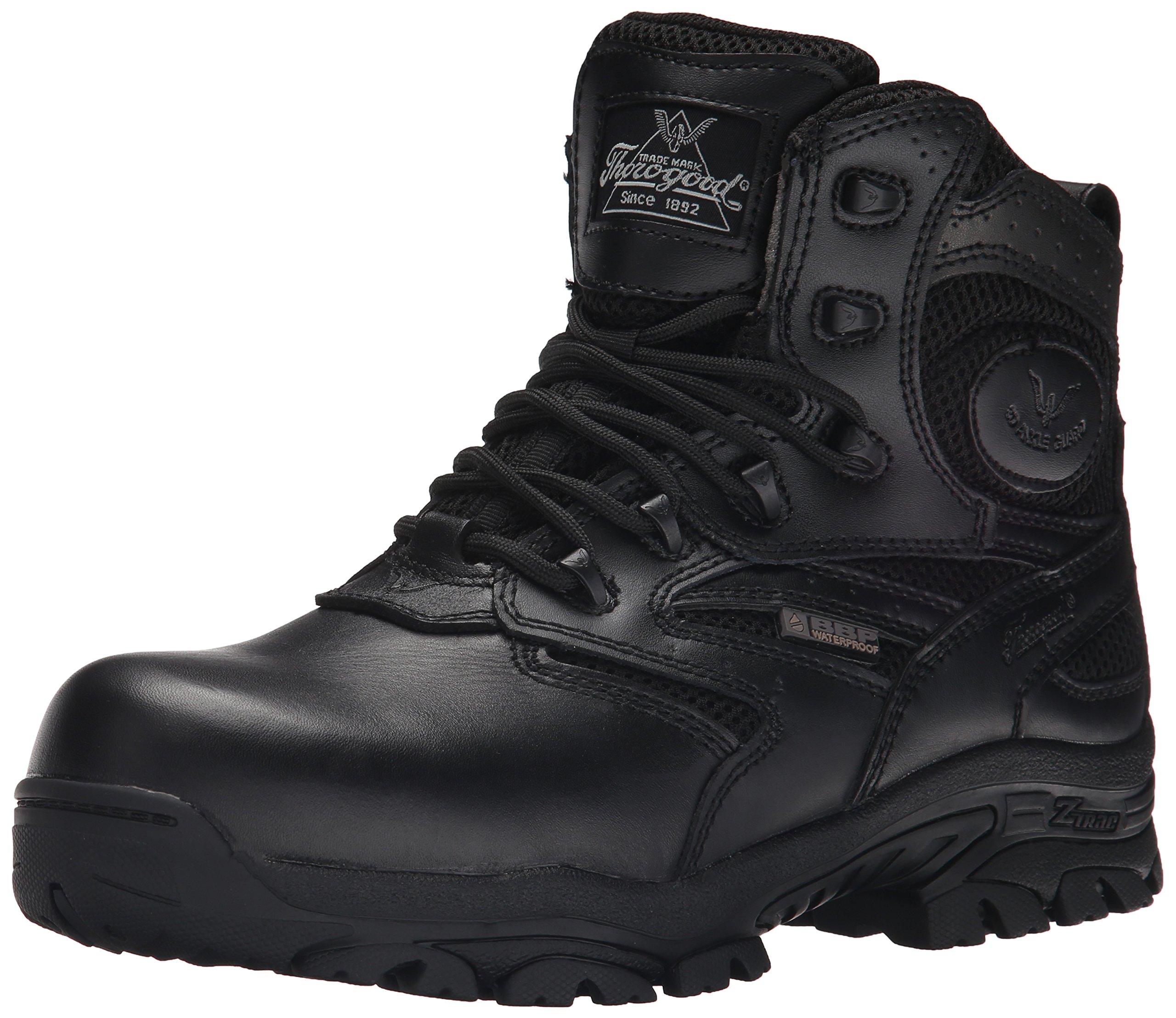 79de7650d85 Thorogood Men 6 Waterproof Side Zip Composite Toe Black Tactical ...