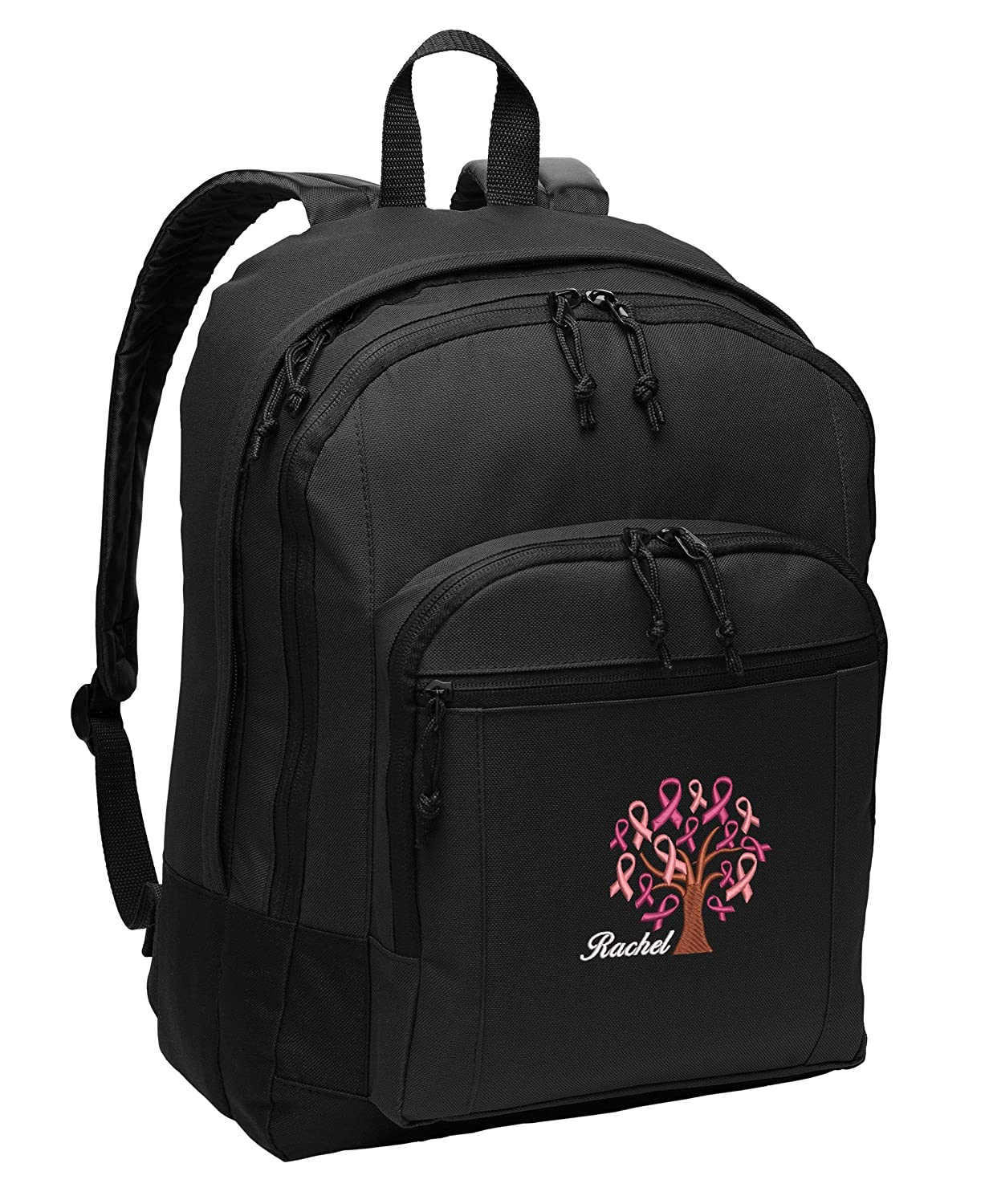 Cancer Awareness Ribbon Tree Customizabe Personalized Embroidered Back Pack
