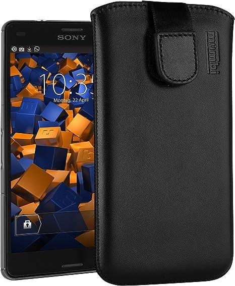 Mumbi Echt Ledertasche Kompatibel Mit Sony Xperia Z3 Elektronik