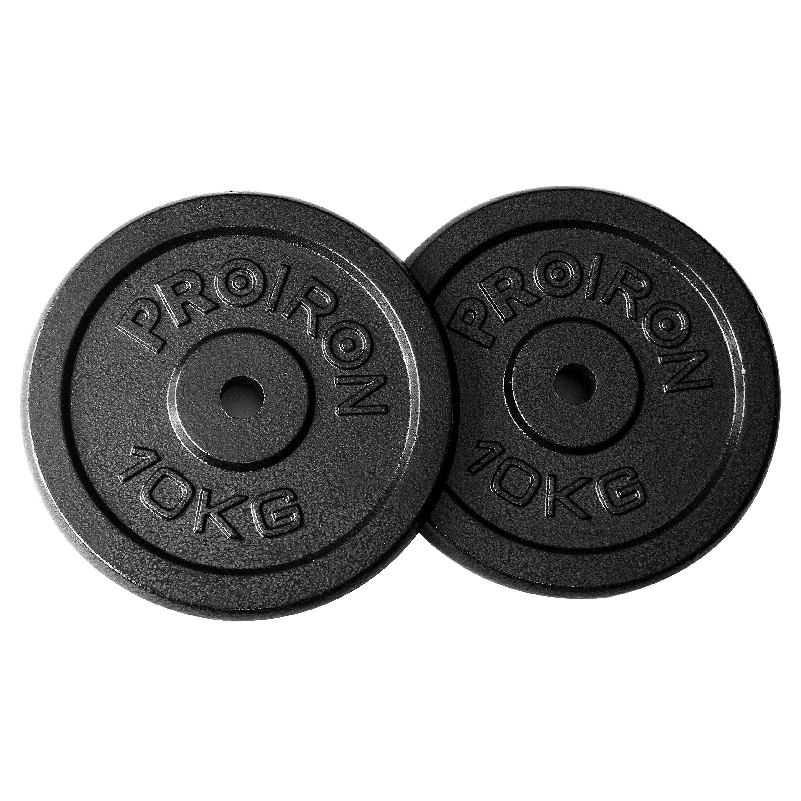 PROIRON Pesas de Disco Hierro Fundido Discos de Pesa para mancuerna musculación 4 x 1.25kg
