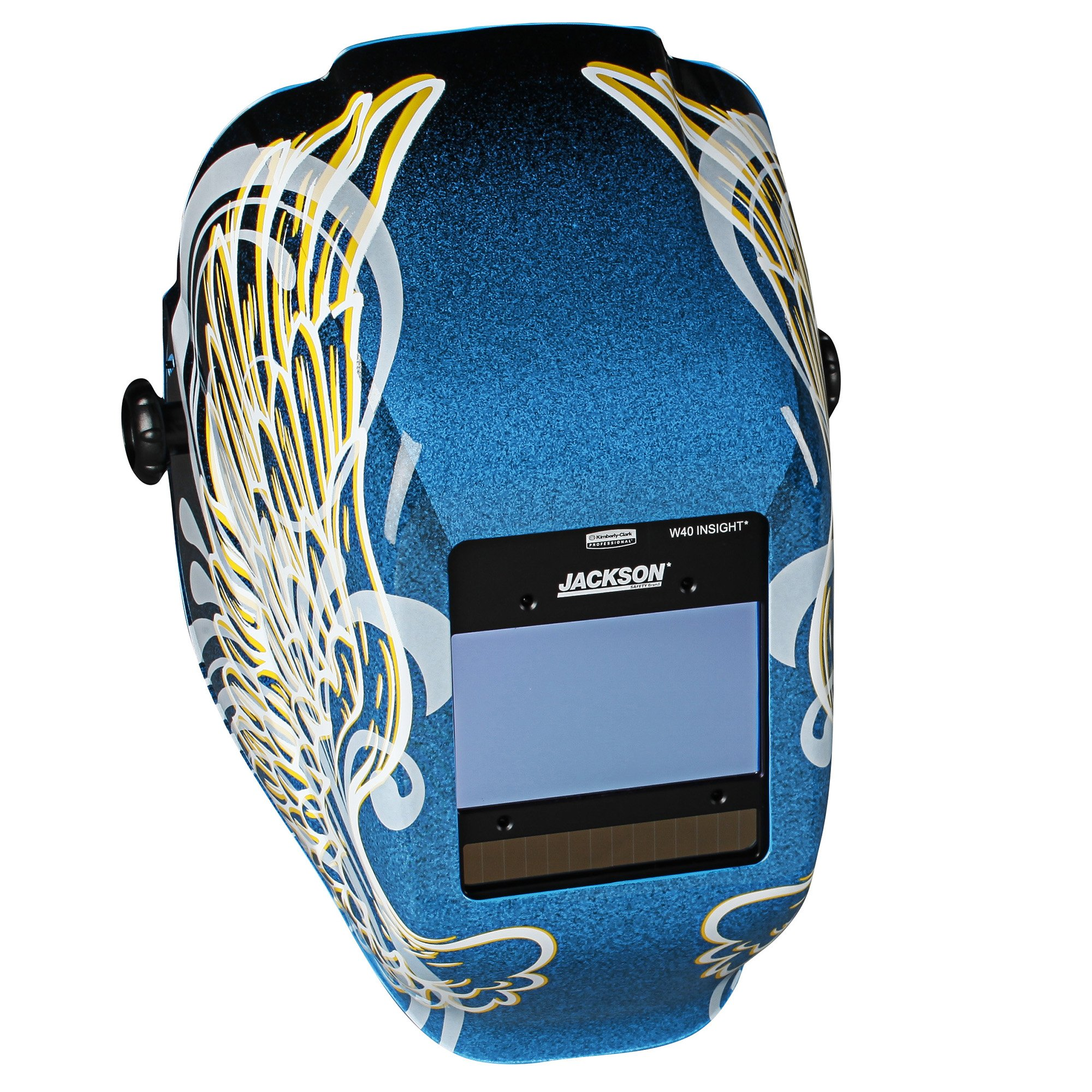 Jackson Safety Insight Variable Auto Darkening Welding Helmet (46100), HaloX , ADF, Gold Wings Graphic