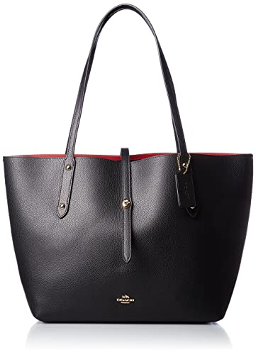 1c08d48290 COACH Women's Polished Pebbled Leather Market Tote