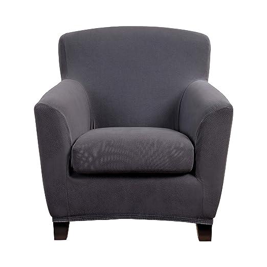 Bellboni Funda de sofá sillón, sillón Lounge, Funda para sofá, Funda Estirable bi-elástica, Funda elástica para Muchos Tipos de sillón comunes, Gris ...