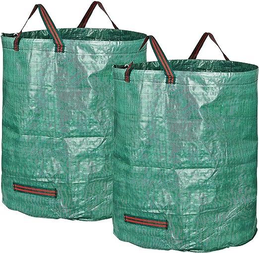 Bolsas De Jardín Bolsa Grande De Basura De Jardín 300L Rechazar Saco De Hierba Basura Impermeable Reutilizable Grande, 2pack: Amazon.es: Jardín