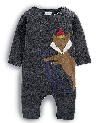 Mamas & Papas Fox Knit Romper Traje para la Nieve, Grey SGT ...