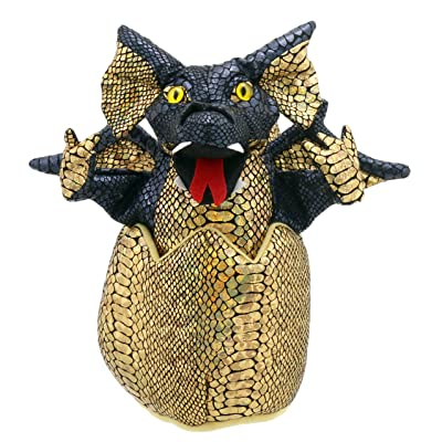 The Puppet Company Black Hatching Dragon Hand Puppet: Toys & Games