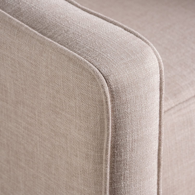 Marston Mid Century Modern Fabric Recliner Set of 2 Wheat